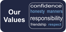 Our Values  honesty  manners friendship  respect  responsibility confidence